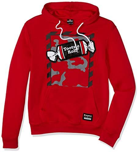 Southpole Men's Tootsie Fashion Fleece Sweatshirt (Hoody, Crewneck), Red Roll, Large