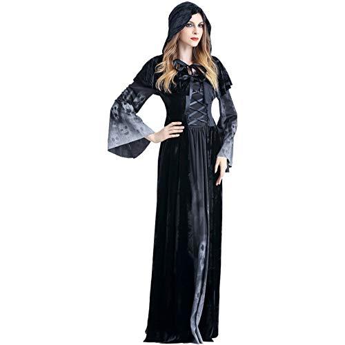 Henreal Disfraz de Halloween para Mujer, Disfraz de Terror, cráneo ...