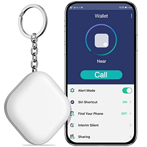 BEBONCOOL Schlüsselfinder, Key Finder Unterstützen iOS/Android, Schlüssel Finder mit Bidirektionalem Alarm/Silent Mode, Multifunktionaler Keyfinder, Smart One Touch Find Schlüsselfinder GPS