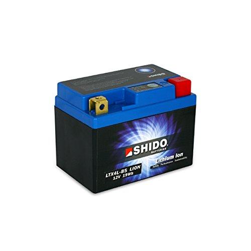 SHIDO LTX4L-BS LION -S- Batería de ion de litio, color azul
