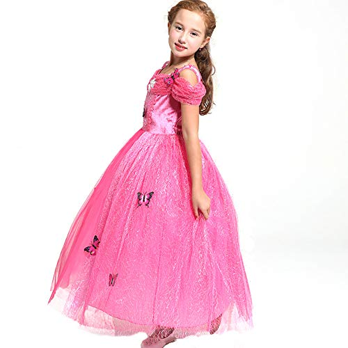 Ecparty Princess Costumes Dress for Your Little Girls Dress up (4T, Cinderella Dress Pink)