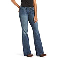 Ariat® Women's Size Guide Ariat® Men's Size Guide Put a dime in the jukebox and dance the night away in these Ella Jeans! Mid-rise jeans feature a soft cotton fabrication with slight stretch for durability that ensures a wide range of movement. Mediu...