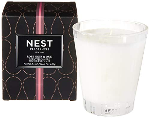 NEST Fragrances Classic Candle Rose Noir & Oud, 8 ounce
