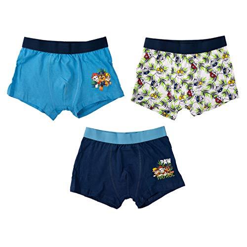 United Labels Paw Patrol - Boxershorts Jungen 3er Pack, Kinder Unterhose Unterwäsche (110/116)