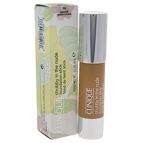 Clinique Chubby In The Nude Foundation Stick, No. 08, Grandest Golden Neutral, 0.21 Ounce