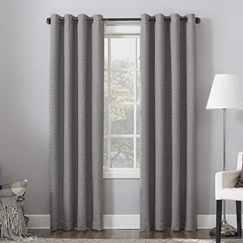 "Sun Zero Baxter Theater Grade Extreme 100% Blackout Curtain Panel, 52"" x 95"", Gray"