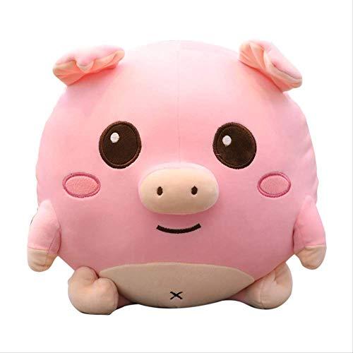 QWYU Peluche Juguetes de peluche suave de algodón bola de cerdo almohada reconfortante muñeca linda durmiendo 60cm c