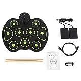 FESSLAND Leichte Aufrolltrommel Elektronische Roll Up Drum Kit Tischplatte Roll Up Drum Kit Trommel Elektrische Kits Songs Für Aufnahme Funktion Anfänger Kinder (Farbe : Grün)