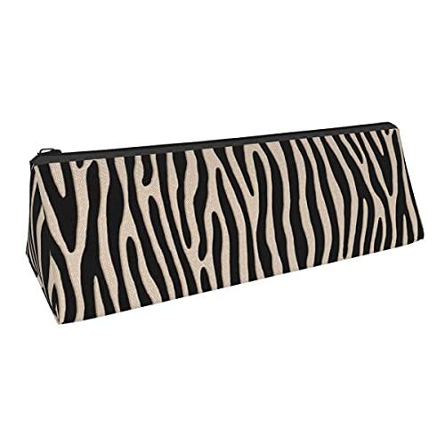 Tiger Or Zebra Bla y blanco crudo vertical de pequeña capacidad triángulo bolsa de almacenamiento para niños niñas universitarios escuela secundaria oficina Plies papelería