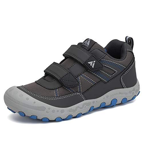Mishansha Outdoor Kid's Hiking Shoes Sneakers Durable Wide Boys Walking Tennis Trail Shoe Grey Little Kid 13