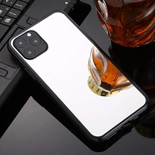 fire bird Conciso, Conveniente, Duradero For iPhone 11 Revestimiento del Espejo teléfono Funda Pro MAX TPU + acrílico de Lujo (Plata), Simple, cómodo, fácil de Llevar. (Color : Silver)