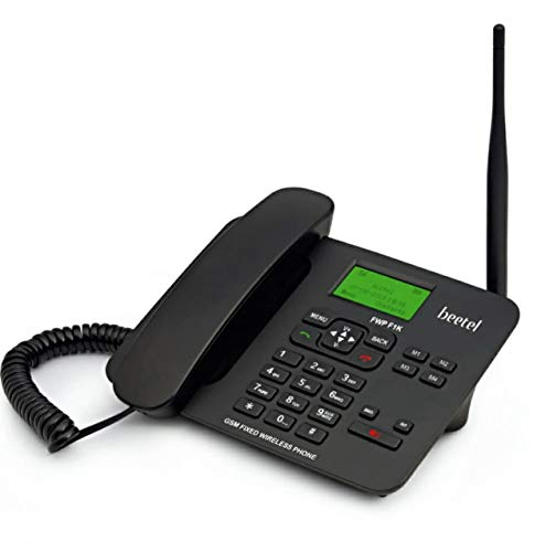 Beetel Fixed Wireless Phone, Black