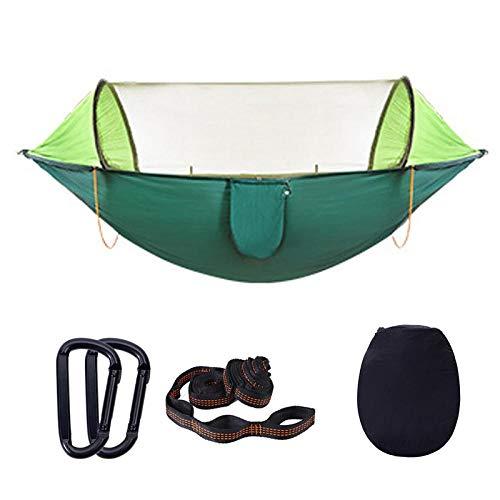 REFUEL - Mosquitera para exteriores, plegable, portátil, de apertura rápida, portátil, de camuflaje, para viajes, senderismo, para colgar en la cama de camping, verde