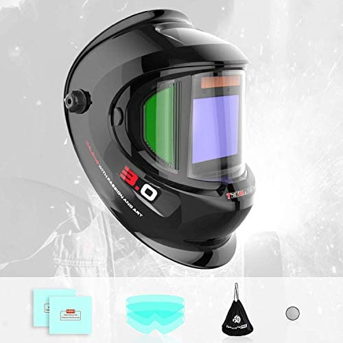 Tekware Large Viewing Auto Darkening Welding Helmet With Side View Solar Powered True Color product image