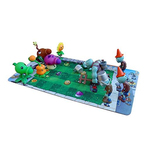 Plants vs Zombies Toys 10 PCS,Including Battle Map, Christmas and Halloween Zombie Toys,PVZ Toys Party Supplies