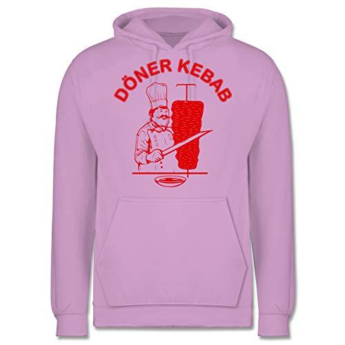 Statement - Original Döner Kebab Logo - S - Lavendel - döner kebap Shirt schwarz - JH001 - Herren Hoodie und Kapuzenpullover für Männer