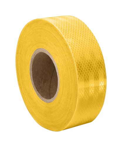 3M 3431 Yellow Micro Prismatic Sheeting Reflective Tape, 2' x 5 yd (1 Roll)