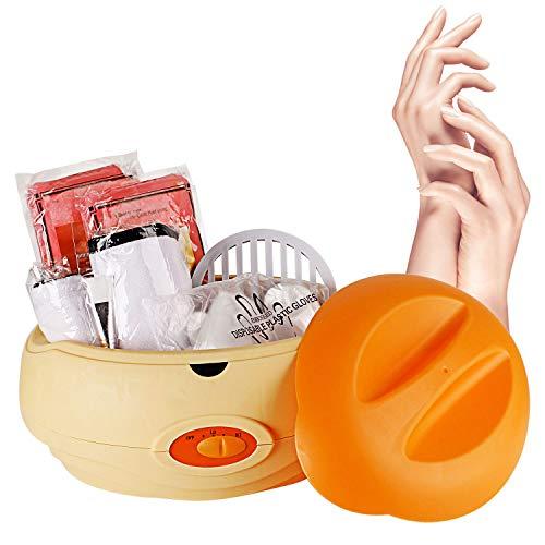 YAOBLUESEA Paraffin Wachsbad Paraffinbad Set für Hände und Füße mit Zubehör und 900g Wachs Orange