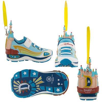 Disneyland Pixar Marathon Weekend 2017 RunDisney Run Disney Sleeping Beauty Castle Shoe Sneaker Ornament