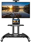 NB North Bayou Mobile TV Cart TV Stand with Wheels for 32 to 65 Inch LCD LED OLED Plasma Flat Panel...