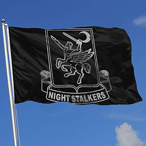 GSNWFG US Army Retro 160th Special Operations Aviation Regiment 3x5 Foot Flag Outdoor Flags 100% Single-Layer Translucent Polyester 3x5 Ft