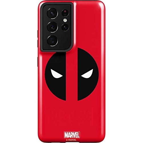 Skinit Pro Phone Case Compatible with Samsung Galaxy S21 Ultra 5G - Officially Licensed Marvel Deadpool Logo Red Design