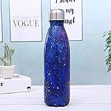 JYYC Botella de Coque Creativa, Necesidades diarias, Frasco de vacío de Acero Inoxidable, Taza de Agua Deportiva, P, 500 ml