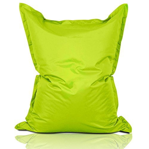 Lumaland Luxury Riesensitzsack XL Sitzsack 270l Füllung 120 x 160 cm Indoor Outdoor Apfelgrün
