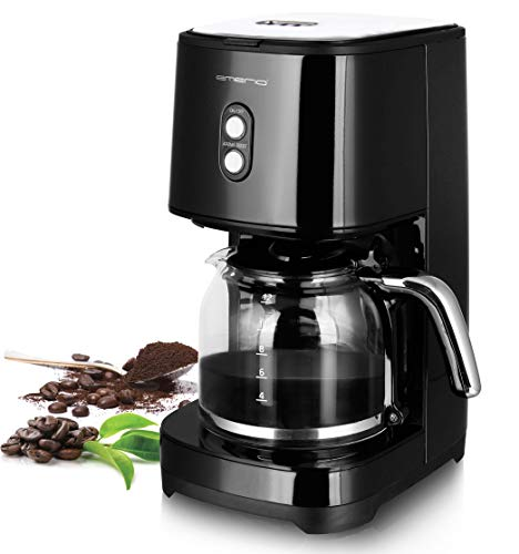 Emerio CME-121593 Kaffeemaschine mit Filter, 900, Glas, 1.5 liters, Schwarz