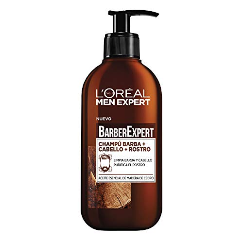 LOréal Paris Men Expert - Barber Club Champú 3 en 1 para barba, cabello y rostro - pack of 2 x 200 ml