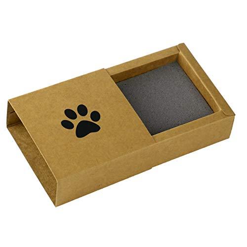 Kira Gates Pawprint Memory Box Natur | Behalte den Pfotenabdruck deiner Katze dauerhaft, in 3D | schnelle und einfache Anwendung