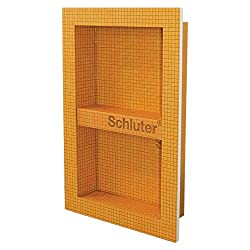 Niche made from Schluter Kerdi Board with one middle shelf