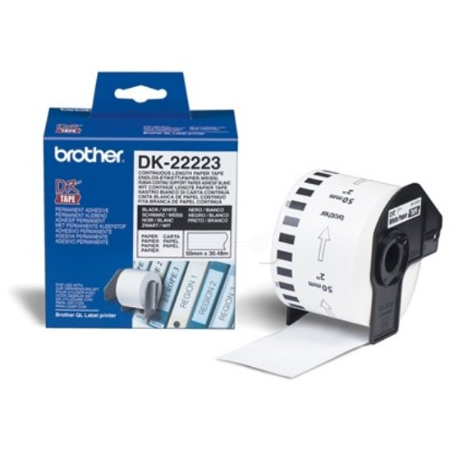 2 ROLLEN ETIKETTEN 38x90mm STANDARD für BROTHER P-touch QL-500 QL-500A