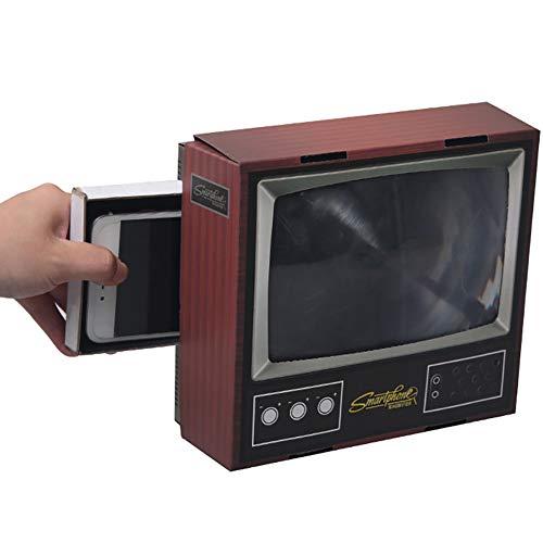 CHB DIY Mini TV Retro Wind Cardboard Mobile Phone Screen Amplifier Folding Assembled Mobile Phone Magnifying Glass