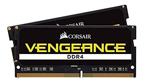 Corsair Vengeance SODIMM 32Go 2x16Go DDR4 2400MHz CL16 Mémoire pour Ordinateurs Portables Support des Processeurs Intel Core™ i5 et i7 de 6ème génération Black