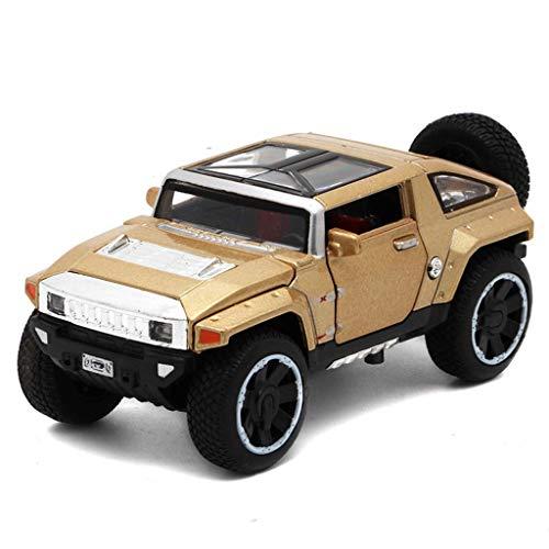 YXDEW Modelo de Coche Hummer HX Concept Vehículo 01:32 analógica de fundición a presión de aleación Modelo de Coche de Juguete Modelo de Coche 1.5x6x5CM (Color: Rojo) automóviles (Color : Gold)