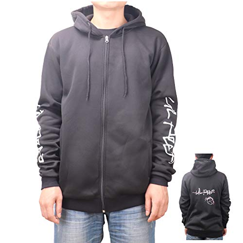 YEOU Unisex Hoodie Letter Printed Cotton Hooded Pullover Sweatshirt (Black,XL)