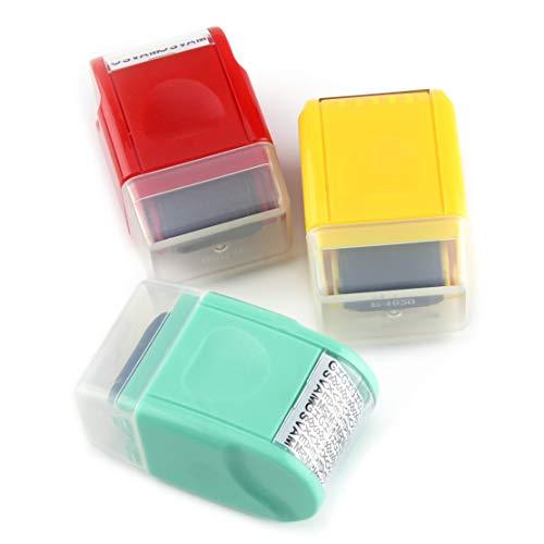 Eastar Mini Guard Your ID Messy Code Security SelfInking Roller Stamp Stationery Tool Bürobedarf Größe: ca. 6x3,7x3cm(2,4x1,5x1,2inch)(LxBxT)
