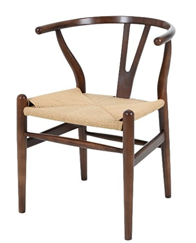 Vetrostyle Sessel Stuhl Replik CH24 Y-Chair Wishbone Hans Wegner Designer Dunkelbraun