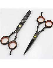 LXH-SH Tijeras de peluquería Classic de una Cola de Tijera Tijeras de Pelo Negro Adelgazamiento scisor barbero de Corte de 5,5 Pulgadas establecidos Tijeras de peluquería Tijeras