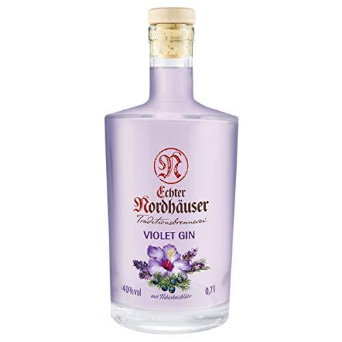 Echter Nordhäuser Traditionsbrennerei Violet Gin 0,7 l mit Hibiskusblüte