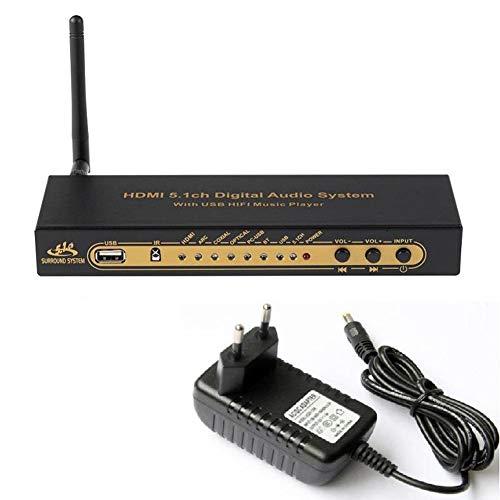 Suading HD851BT DTS AC3 5.1 Decodificador Convertidor de Audio Extractor 4K ARC SPDIF Divisor óPtico Coxial con Enchufe -EU