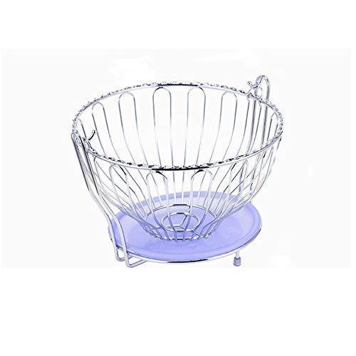 LIPENLI Artículos for el hogar Soporte de flor del enrejado de balanceo de la cesta de fruta de frutas Hamaca vegetal Tazón estante del soporte de almacenamiento, 28 * 18.5cm Plata - duradera estantes