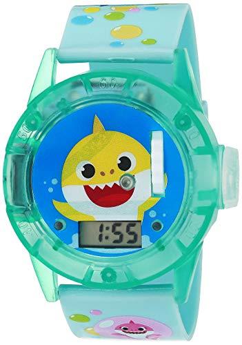 Baby Shark Kinder-Quarzuhr mit Gummiband, Mehrfarbig, 13 (Modell: BBS6010AZ)