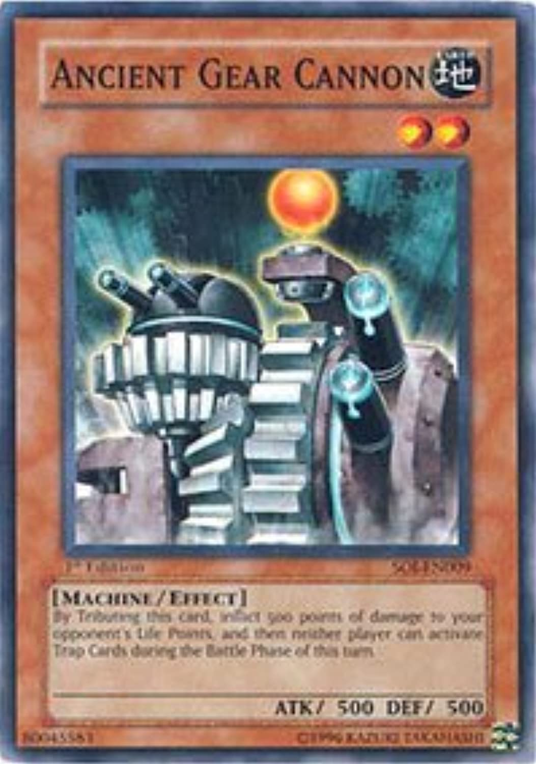 YuGiOh   Ancient Ancient Ancient Gear Cannon (SOIEN009)  Shadow of Infinity  1st Edition  Common 7d6414