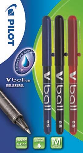 Pilot V ball 0,5 - Blíster de bolígrafos, 3 unidades