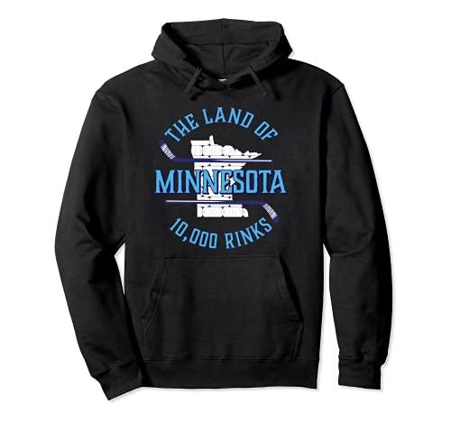 Minnesota The Land of 10.000 Rinks – Hockey-Geschenk Pullover Hoodie