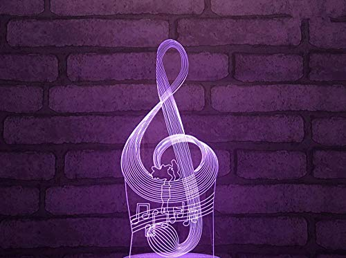 3D nachtlicht für kinder musik symbol bunte ändern touch konsole licht optische täuschung Usb ladelampe riss basis lampe acryl blatt nachtlicht geschenk lampe dekoration lampe