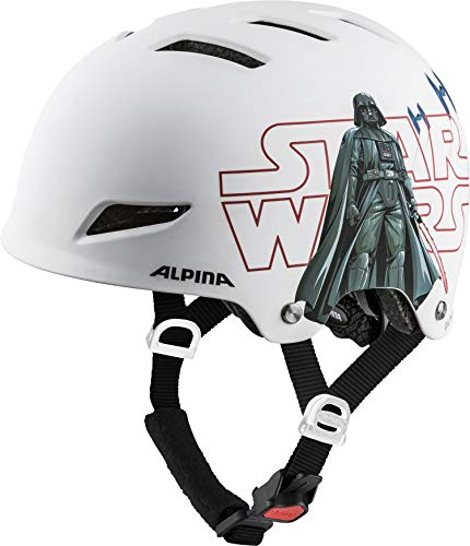 ALPINA PARK JR. Fahrradhelm, Kinder, Star Wars-white, 51-55