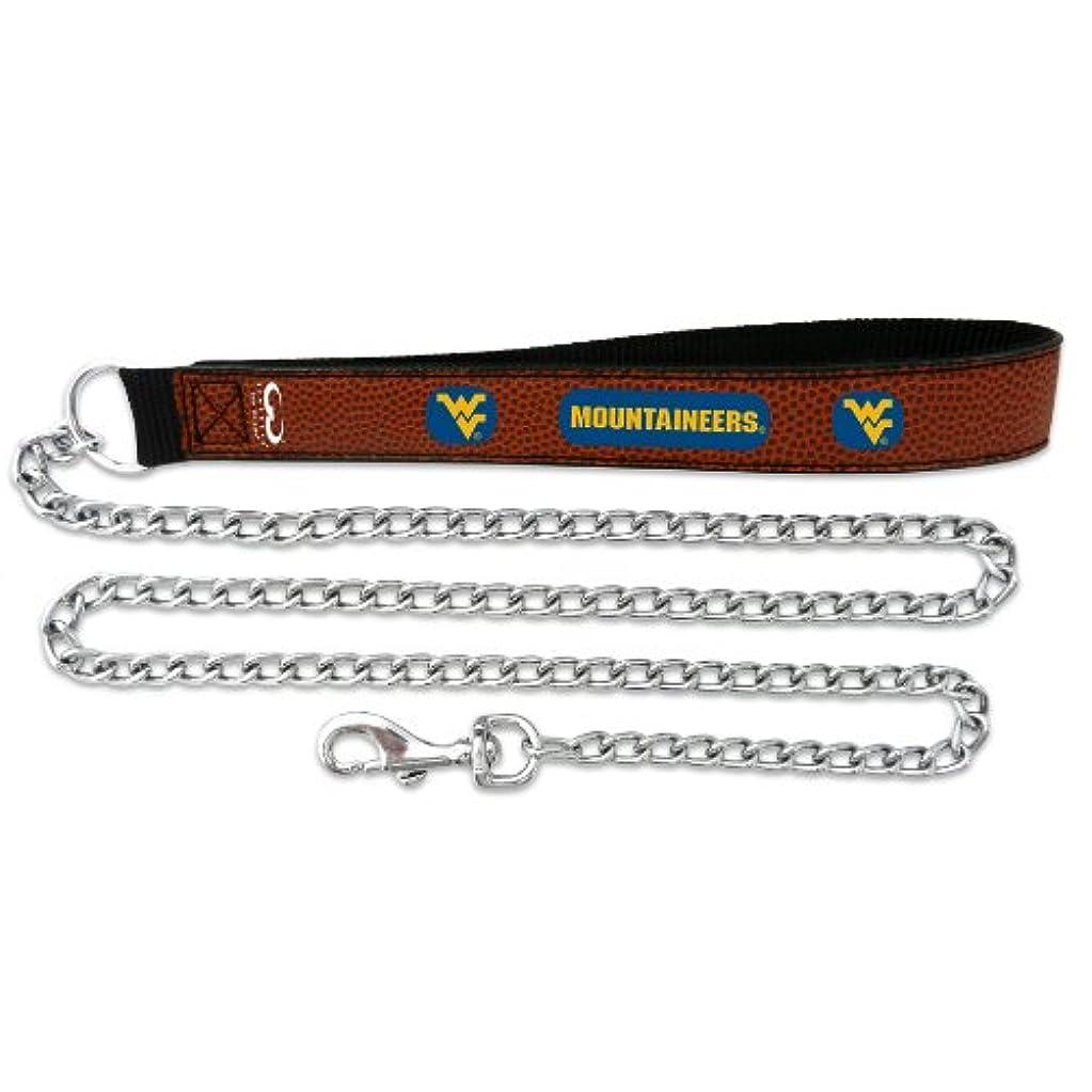 酸化物滝廃棄するWest Virginia Mountaineers Football Leather 3.5mm Chain Leash - L